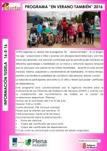 16-5-16 PROGRAMA EN VERANO TAMBIÉN 2016